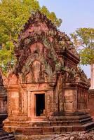 Banteay Srei Temple The beautiful ancient castle, Siem Reap, Cambodia photo