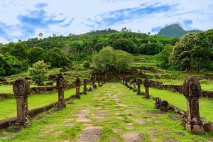 Vat Phou,Wat Phu is UNESCO world heritage in Champasak, Southern Laos. photo