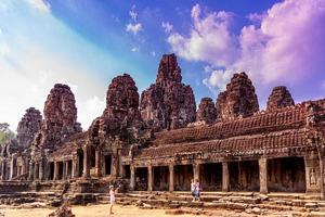 BSiem Reap, Cambodia, 2021 - View of the Bayon Temple photo