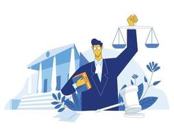 Lawyer education illustration concept vector