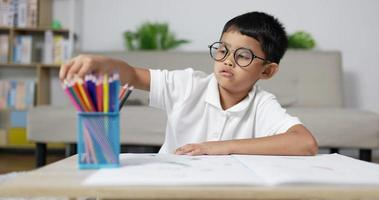Happy Boy with Glasses Drawing video