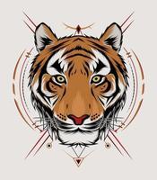 Ferocious Wild Tiger vector