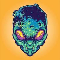 Monster Alien Galaxy Illustrations vector