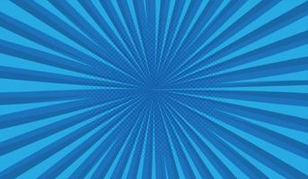 Blue halftone background with comic style vector
