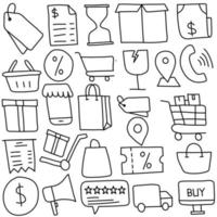 Online Shopping Doodle Icon vector