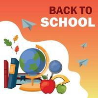 Back to School, New School Year Start - Vector