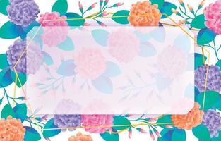 fondo colorido de la hortensia vector