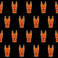 Bright surreal dog pet wallpaper seamless pattern background. vector