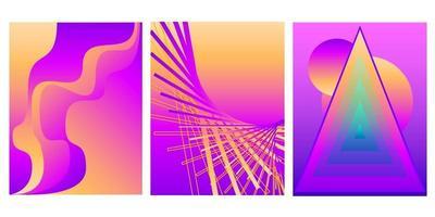 Gradient minimalist abstract background set vector