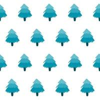 Winter holiday fabric textile seamless spruce pattern background. vector