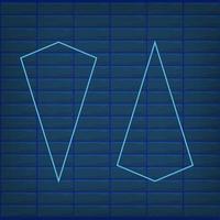 Blue arrow neon effect isolated retro glow direction vector