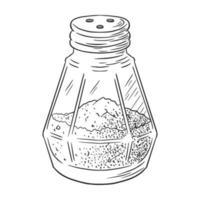 Pepper Shaker Engraved Illustration vector