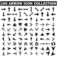 Arrow icons collection vector