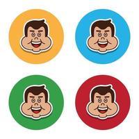 avatar of fat man vector image