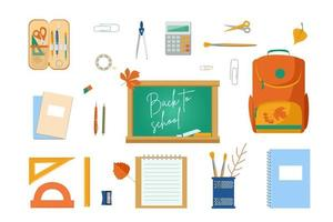 A large set of subjects for school vector