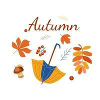 Banner of the Autumn meeting vector