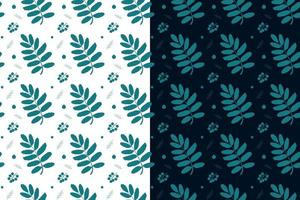 Seamless pattern of mountain ash leaves vector