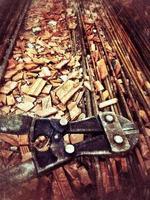 concepto de construcción de hierro de metal industrial foto