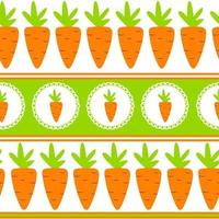 zanahoria, seamless, patrón, plano de fondo, vector, ilustración vector