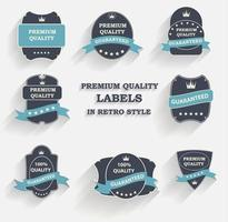 Vector Premium Quality Label Set in Retro Style