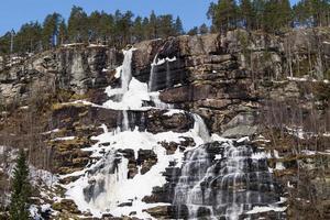 cascada congelada en noruega foto