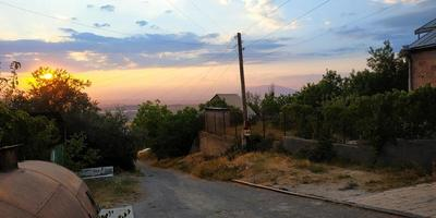 Village sunset photo
