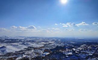 Winter landscape outside photo
