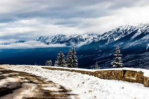 mirador de kootenay. parque nacional kootney. columbia británica, canadá. foto