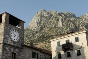The Old city view in montenegro photo