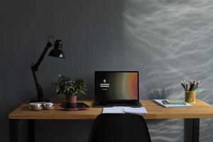 Online school equipment at home photo