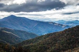 Vistas de las montañas Blue Ridge desde la avenida. foto