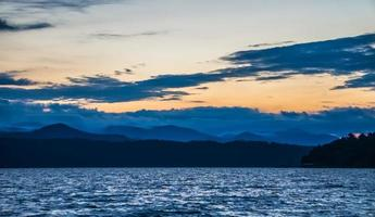 Beautiful landscape scenes at lake jocassee south carolina photo