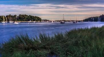 Puerto de Greenwich Bay en East Greenwich Rhode Island foto