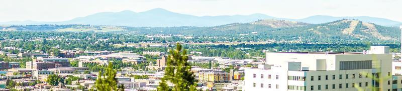 Spokane washington city skyline and spokane valley views photo