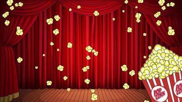Falling popcorn background video
