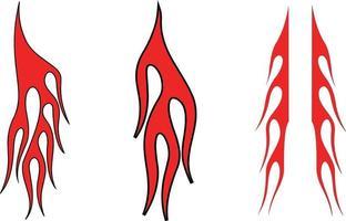 tribal fire tattoo vector