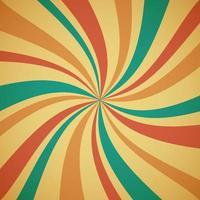 Twist sunburst multicolor vintage pattern background vector