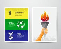 Summer games banner template. vector illustration