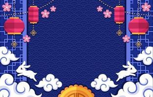 Chuseok Decoration Background vector