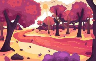 Landscape Autumn Scenery vector