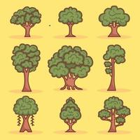 Tree Icon Collections vector