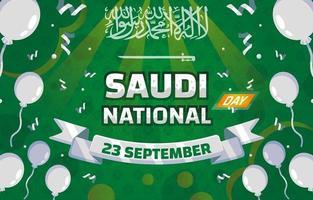 National Day Saudi Background vector