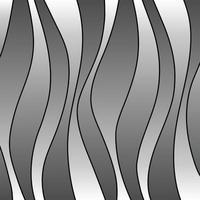 gradiente gris y negro raya ondulada vector patrón de fondo