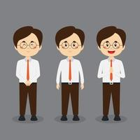 Business Character with Various Expression vector