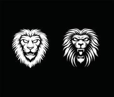 Lion head vector set
