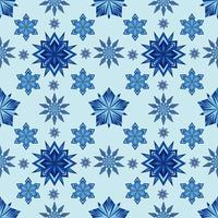 Seamless pattern with snowflakes. Winter Christmas and new year theme vector