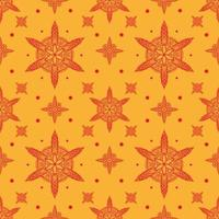 WebSeamless mandala ethnic pattern with floral motives. Kalamkari vector