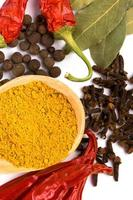 Spices close up photo