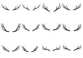 Deer Antlers Icon Set vector