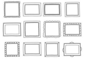 Frames Doodle Vector